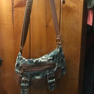 Garage camo small crossbody or shoulder bag